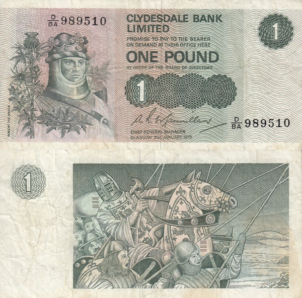 1971-1981 Issue - 1 Pound (Clydesdale Bank Limited)