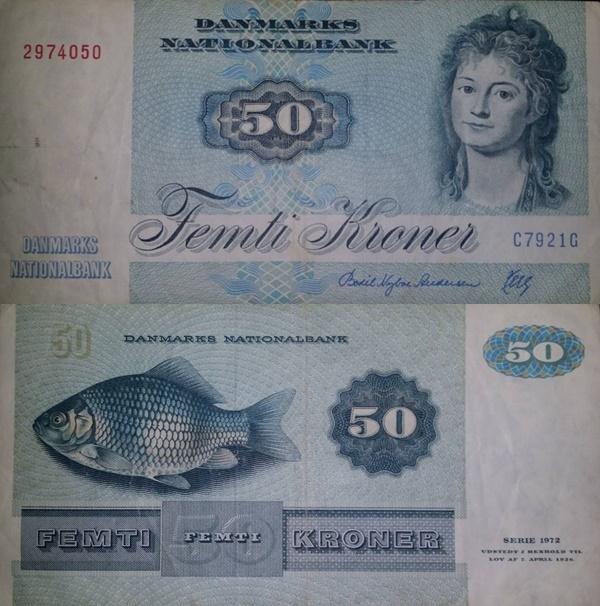 1972 (1972-1998) Issue - 50 Kroner