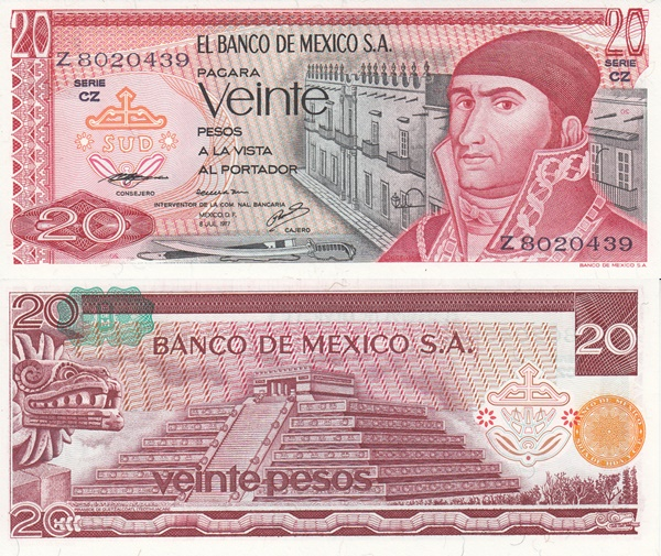 1972-1977 Issue - 20 Pesos