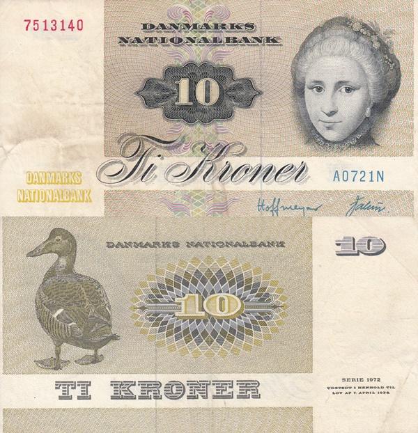 1972-1978 Issue - 10 Kroner