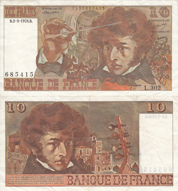 1972-1978  Issue - 10 Francs