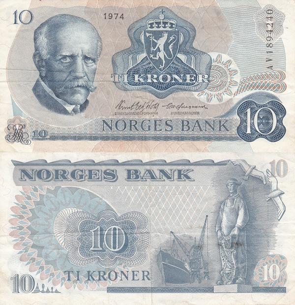 1972-1984 Issue - 10 Kroner