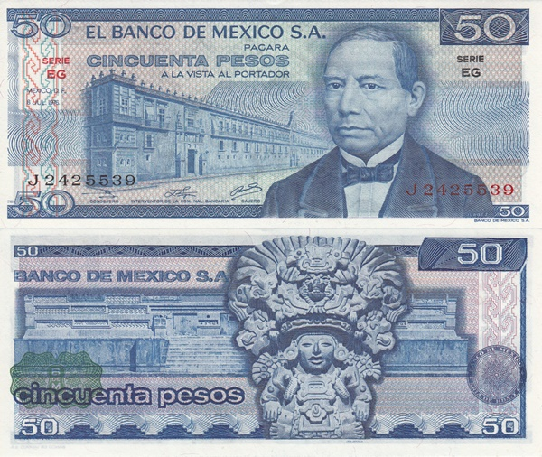 1973-1981 Issues - 50 Pesos