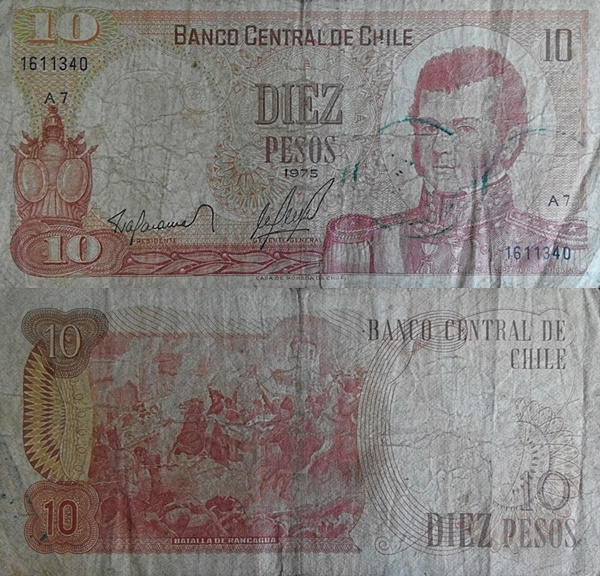 1975-1976 Issue - 10 Pesos