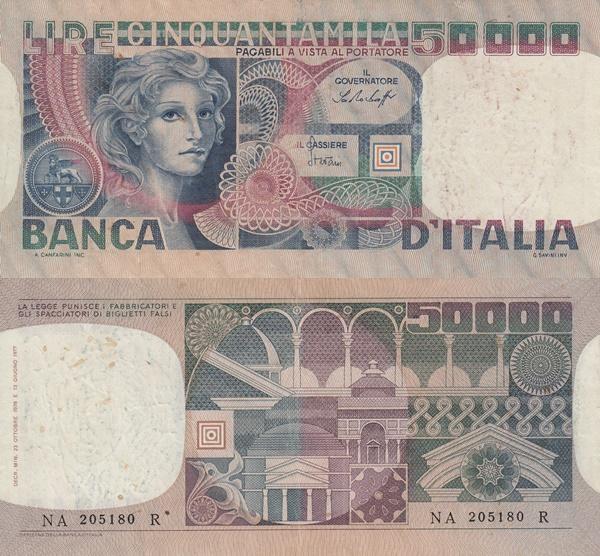 Emisiunea 1976-1984 - 50000 Lire