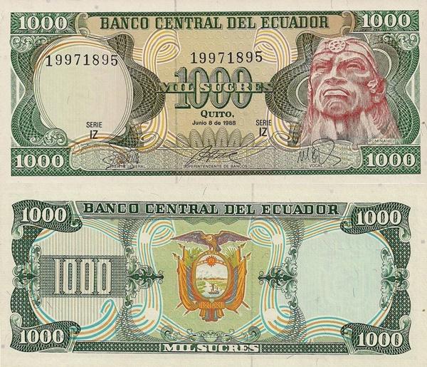 Emisiunile 1976-1988 - 1000 Sucres