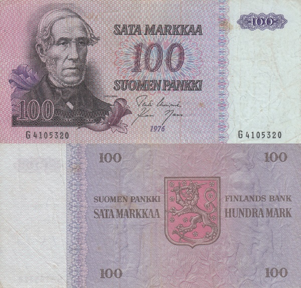 1976 Issue - 100 Markkaa / Mark