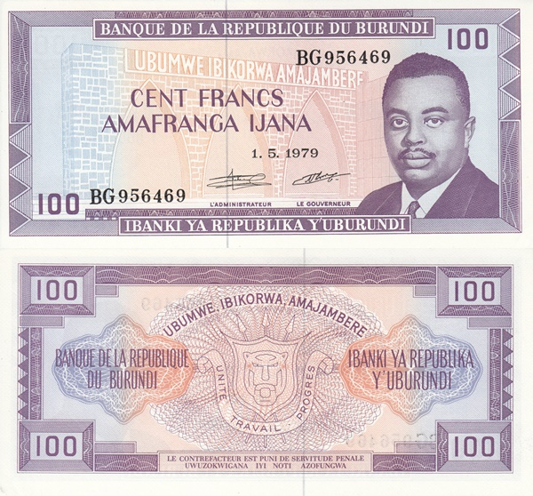 1977-1993 Issue - 100 Francs
