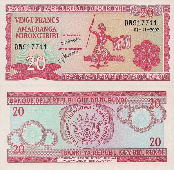 1977-2007 Issue - 20 Francs