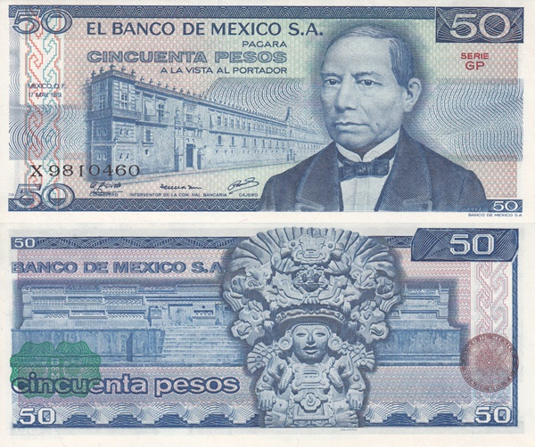 1978-1979 Issue - 50 Pesos