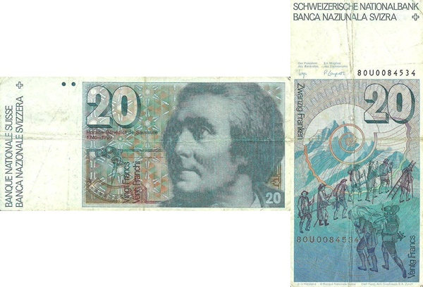 1978-1992 Issue - 20 Franken