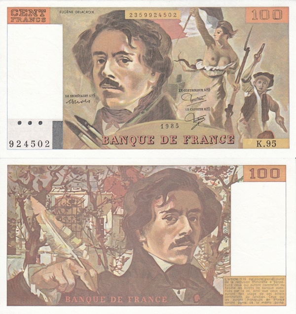 1978-1995 Issue - 100 Francs