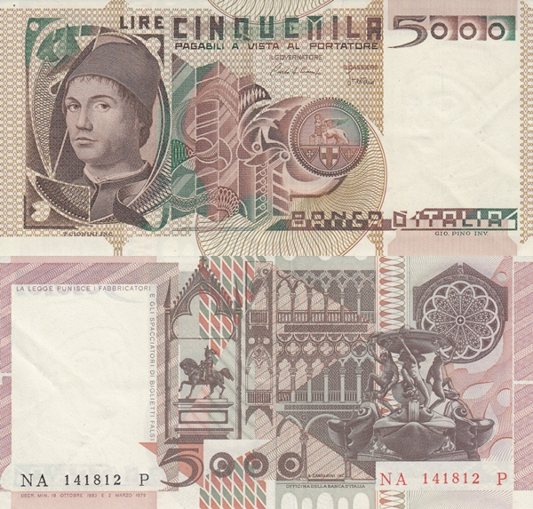 1979-1983 Issue - 5000 Lire