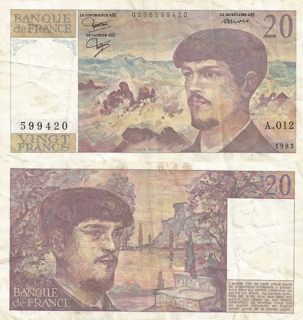 1980-1997 Issue - 20 Francs