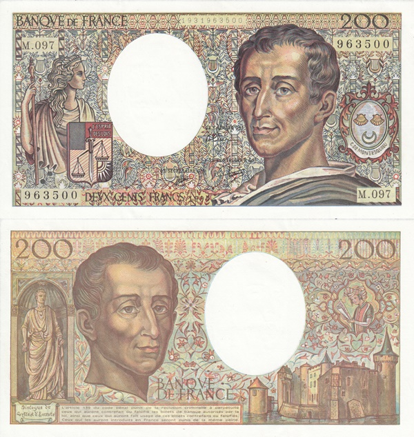 1981-1994 Issue - 200 Francs