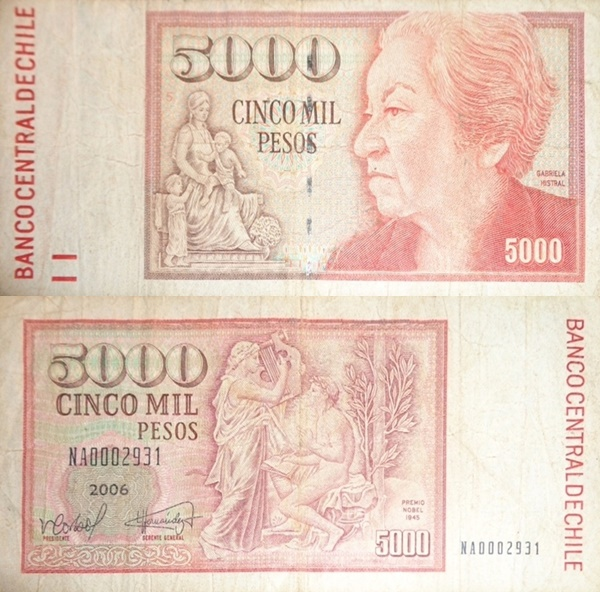 1981-2008 Issue - 5000 Pesos