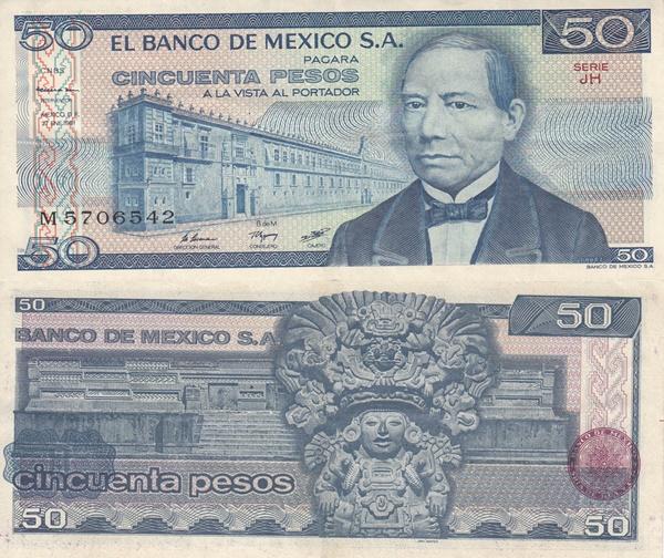 1981 Issue - 50 Pesos