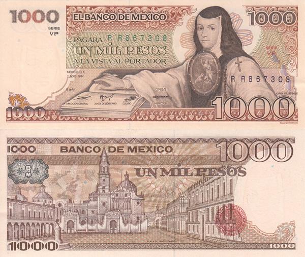 1983-1984 Issue - 1000 Pesos