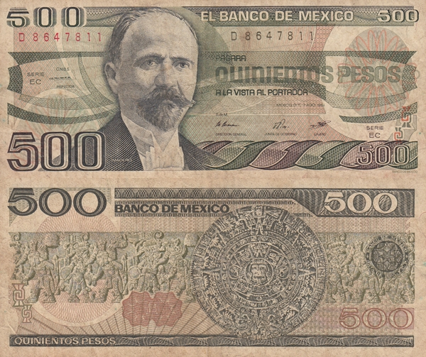 1983-1984 Issue - 500 Pesos