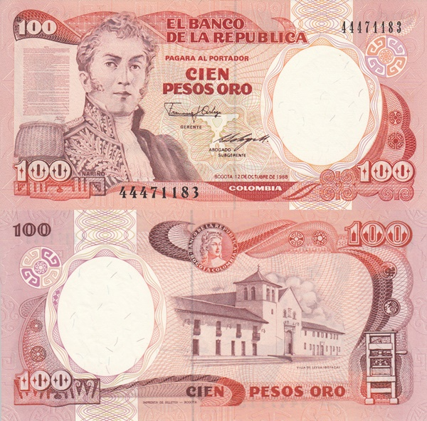1983-1991 Issue - 100 Pesos Oro