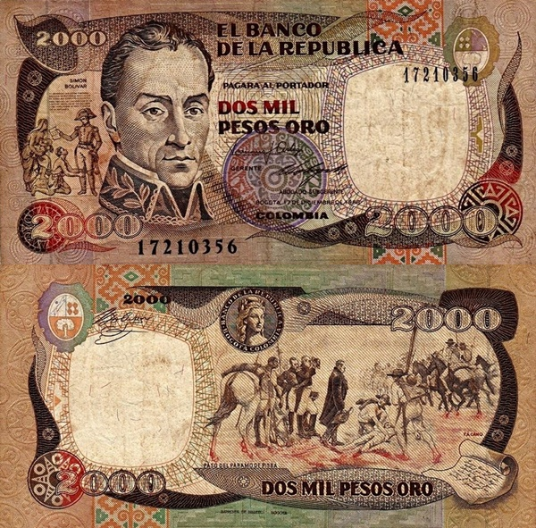 1983-1994 Issues - 2000 Pesos