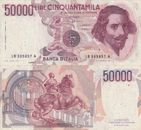 1984 Issue (Bank of Italy - Banca d'Italia: Decreto Ministeriale 06.02.1984)