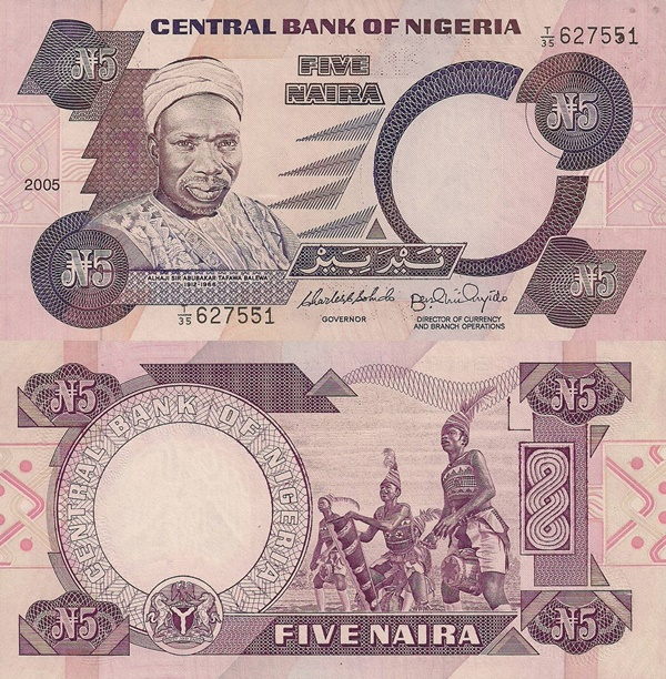 1984- ND, 2001-2005 Issue - 5 Naira