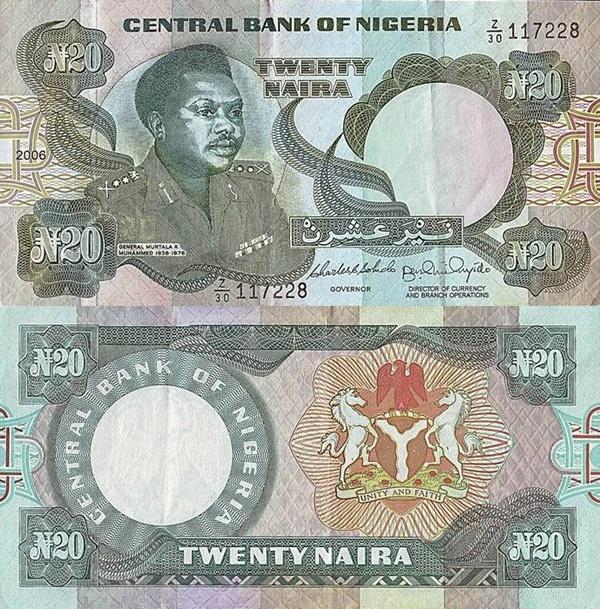 Emisiunea 1984- ND, 2001-2006 - 20 Naira