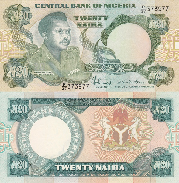1984- ND, 2001-2006 Issue - 20 Naira