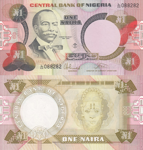 1984 ND Issue - 1 Naira