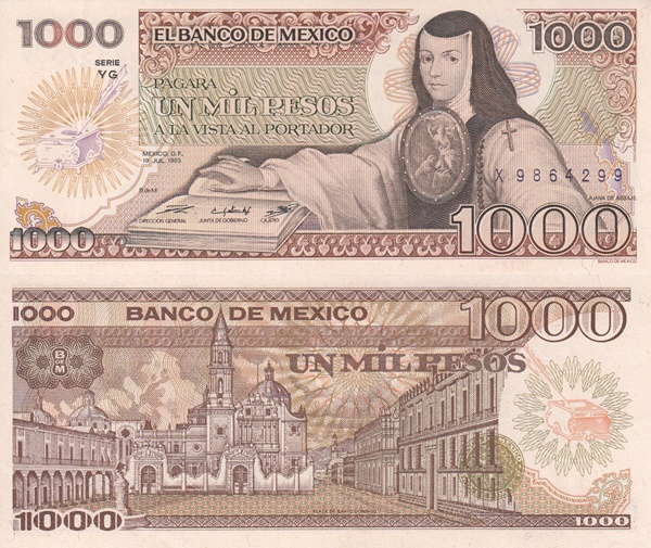1985 Issue - 1000 Pesos