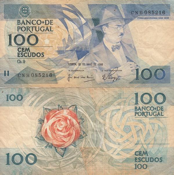 1986-1988 Issue - 100 Escudos