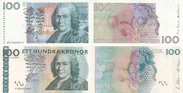 1986-2014 Issues - 100 Kronor