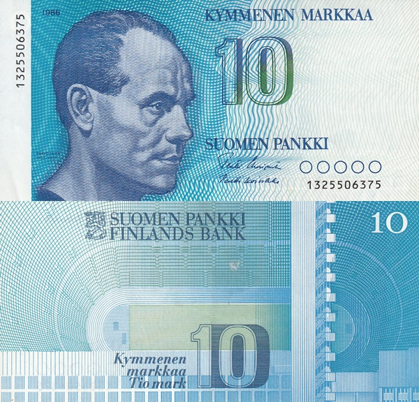 1986 Issue - 10 Markkaa / Mark