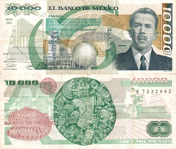 1987-1991 Issue - 10,000 Pesos