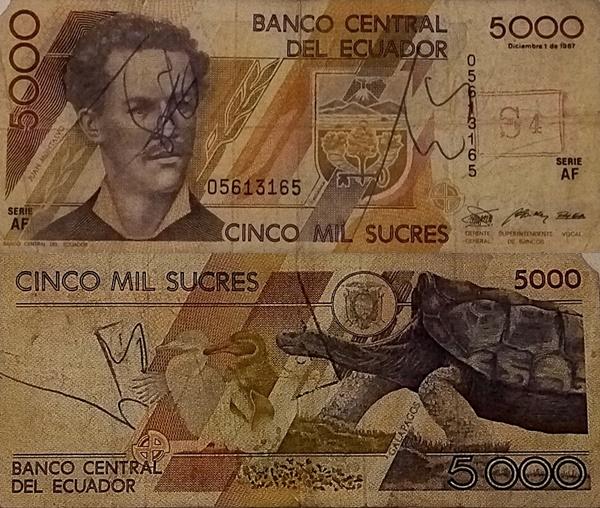 Emisiunea 1987 - 5000 Sucres