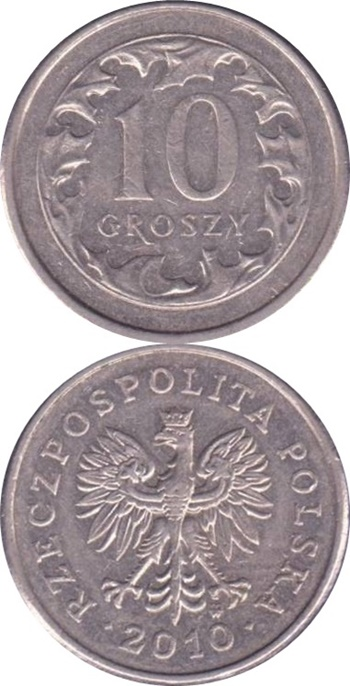 1990-2016 Issue - 10 Groszy