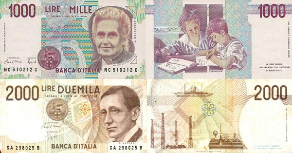 1990 Issue (Bank of Italy - Banca d'Italia: Decreto Ministeriale 03.10.1990)