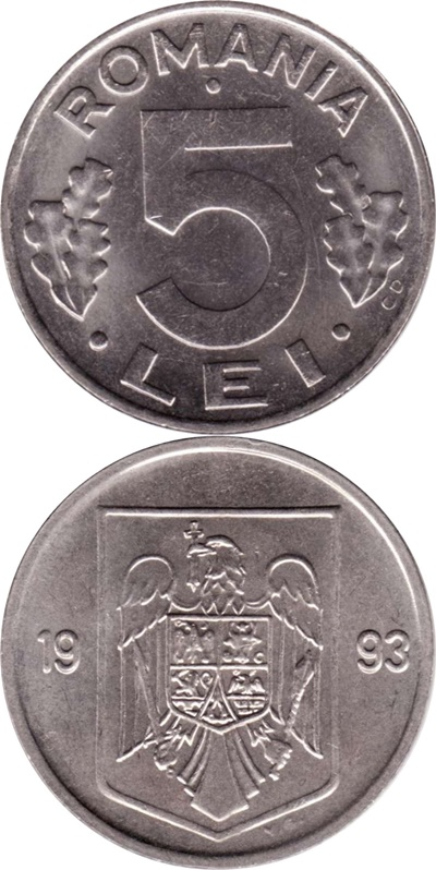 1992-1996, 2000, 2002-2005 Issue - 5 Lei