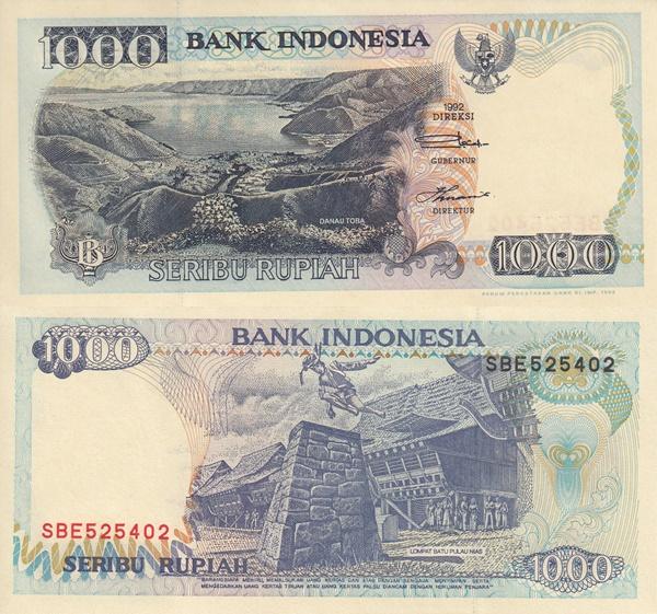 Emisiunea 1992-2000 - 1000 Rupiah
