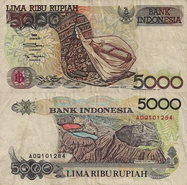 Emisiunea 1992-2001 - 5000 Rupiah