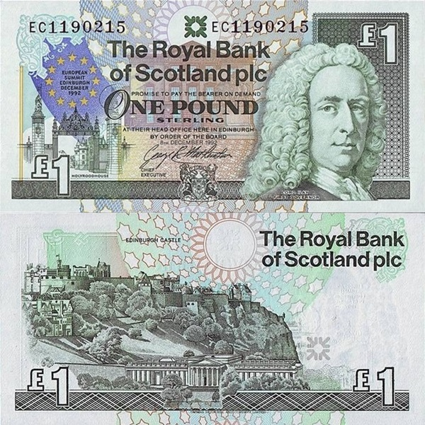 Emisiunea comemorativa 1992 - The Royal Bank of Scotland Plc