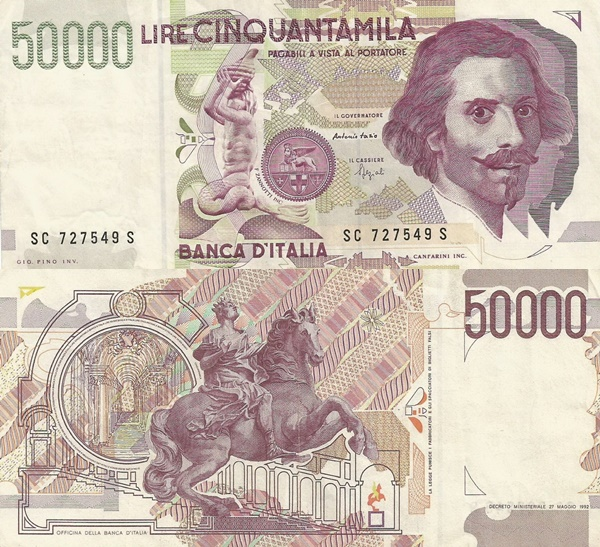 1992 Issue (Bank of Italy - Banca d'Italia: Decreto Ministeriale 27.05.1992)