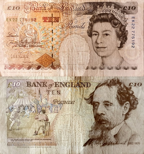 Emisiunea ©1993 (1993-2000) - 10 Pounds (Bank of England)