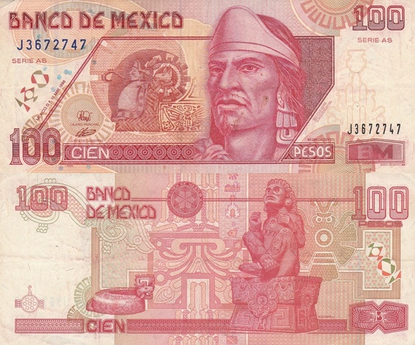 1994-1999 Issue - 100 Pesos