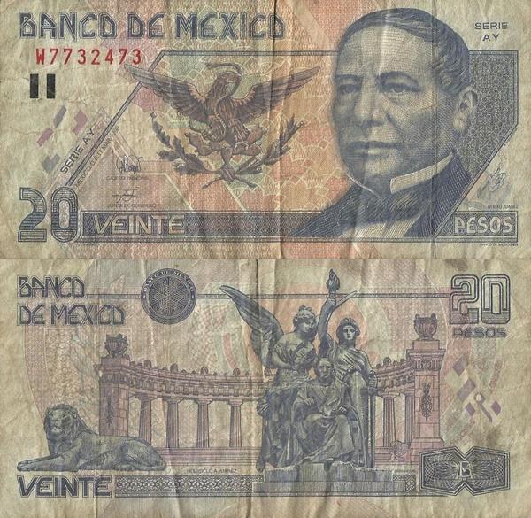 Emisiunea 1994-1999 - 20 Pesos