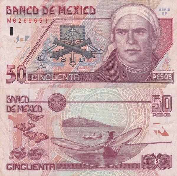 1994-1999 Issue - 50 Pesos