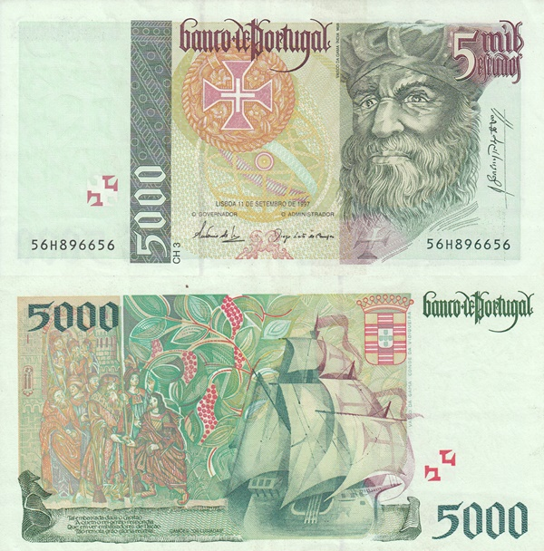 1995-1998 Issue - 5000 Escudos