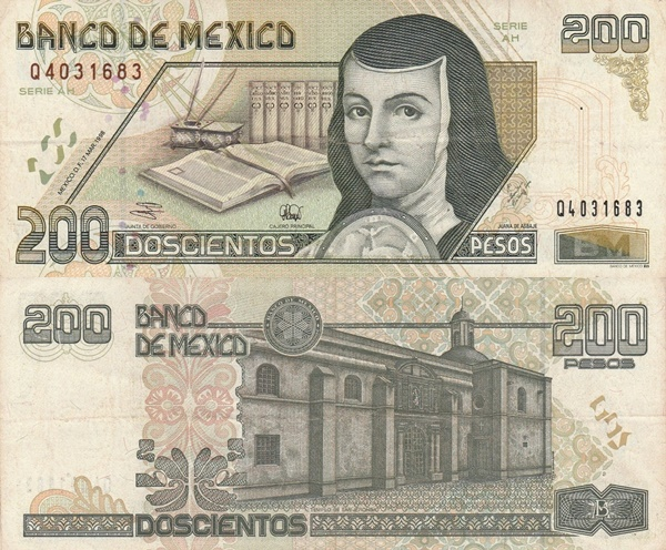 1995-1999 Issue - 200 Pesos