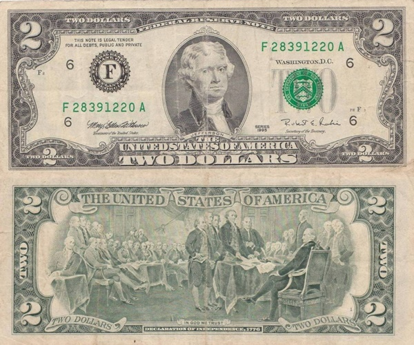1995 Issue - 2 Dollars